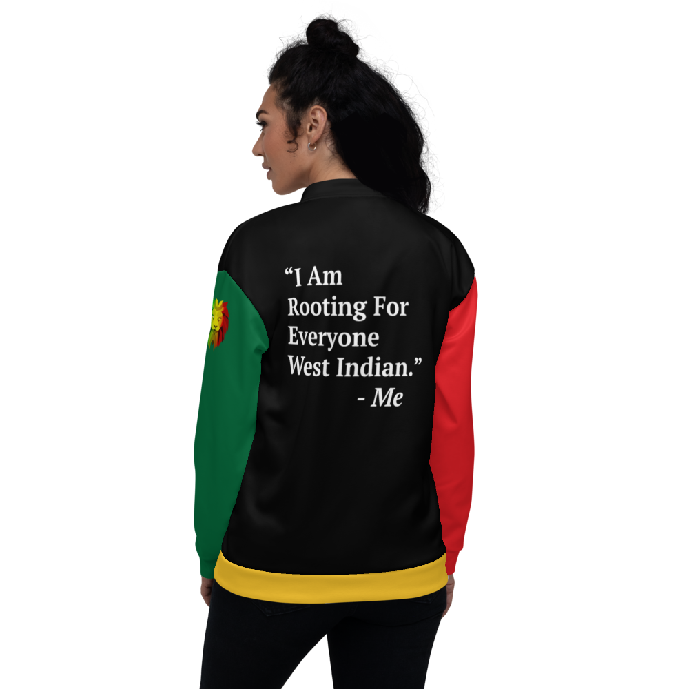 I Am Rooting: West Indian Unisex Bomber Jacket