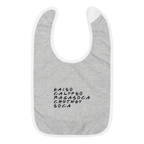 Soca Musicology Embroidered Baby Bib