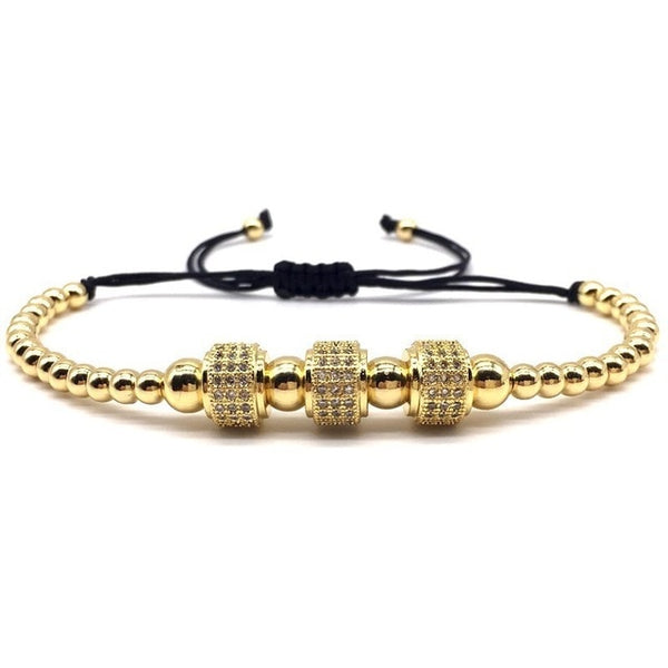 2019 New Design Leopard Head Men Women Bracelet Adjustable 4mm Beads Pave Zircon Charm Bracelet For Men Women Jewelry Gift