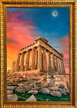 Load image into Gallery viewer, Acropolis Greece at Dusk Original Oil Painting on Canvas