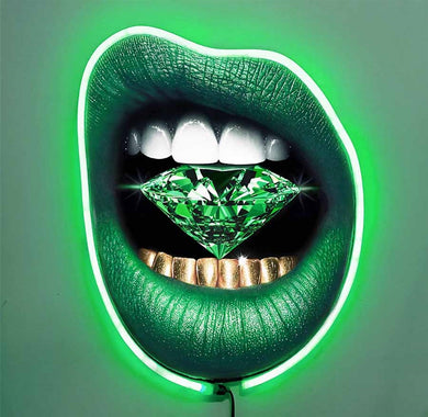 Emerald City Queen w/Diamond Dusted Resin and GREEN NEON LED