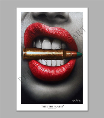 Bite the Bullet Limited Edition Fine Art Paper Print