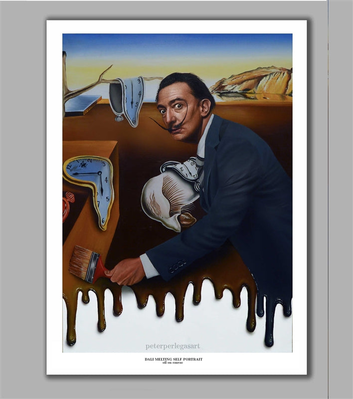 Salvador Dali Melting Self Portrait  Limited Edition Fine Art Paper Print