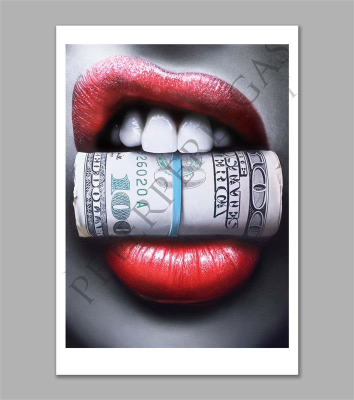 Put Your Money Where Your Mouth Is Limited Edition Fine Art Paper Print