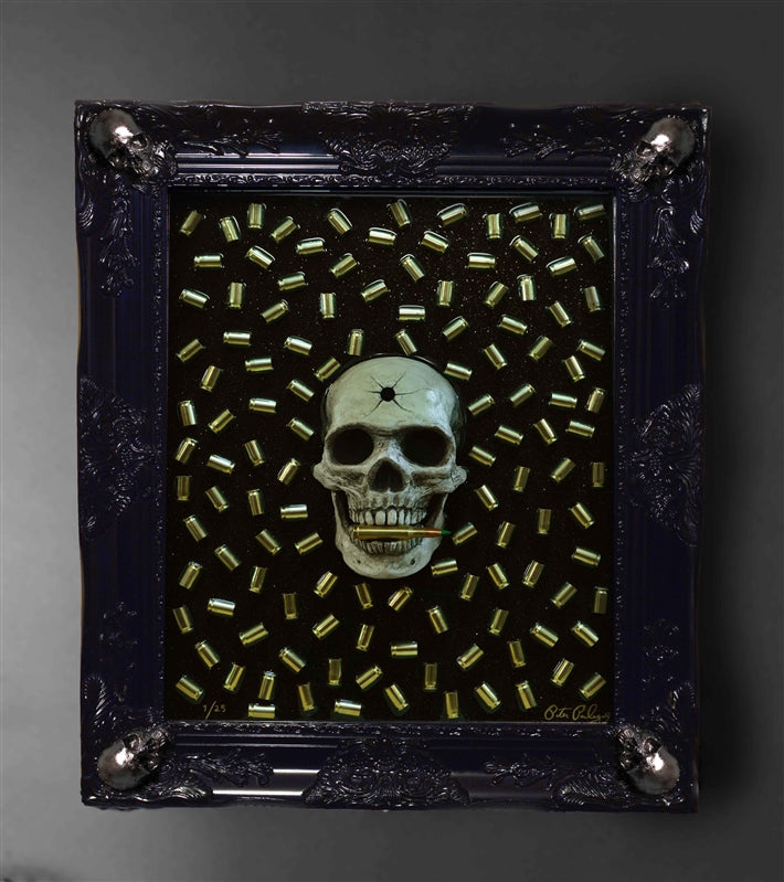 Luminescent Bite the Bullet 3D Framed Original Sculpture  Limited Edition  (#1 - #15)