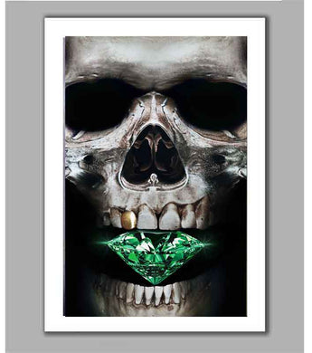 Emerald Skull Limited Edition Fine Art Paper Print