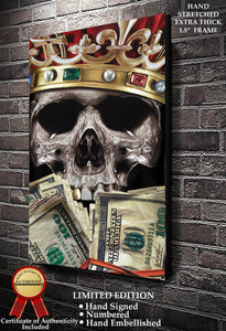 Get Rich or Die Trying  Fine Art Canvas Print