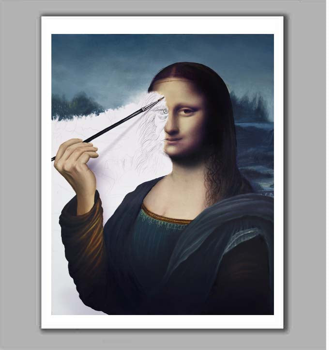 Da Vinci's Mona Lisa Self Portrait  Limited Edition Fine Art Paper Print