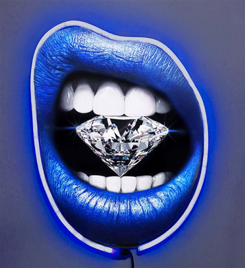 Return of the Ice Queen Diamond Dusted Resin and BLUE NEON LED