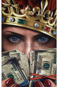 Cash is King Original Oil Painting on Canvas