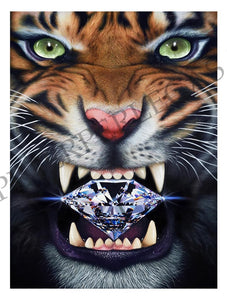 Diamond in the Rough Tiger Original Oil Painting on Canvas