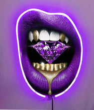 Load image into Gallery viewer, Purple Rain w/Diamond Dusted Resin and VIOLET NEON LED