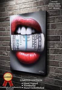 Put Your Money Where Your Mouth Is Fine Art Canvas Print