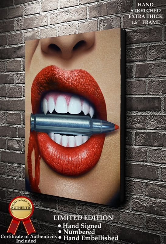 Bite the Silver Bullet Fine Art Canvas Print