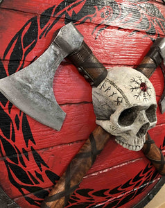 "Viking Warrior SKULL on Shield"" SPECIAL EDITION 3D Original Sculpture (Limited Edition #1 - #15)"