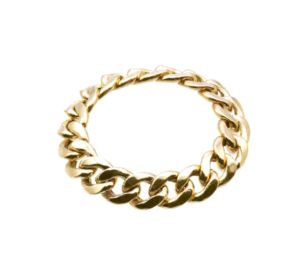 The Flex Chain Ring -10k Gold
