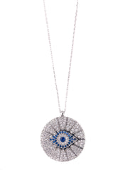 The Circular Pavé Eye Necklace