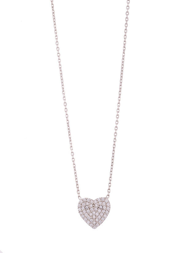 The Simple Pave Heart Necklace