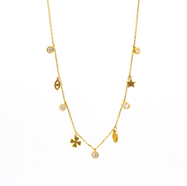 The Multi Good Luck Charm Necklace
