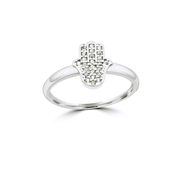 The Pavé Hamsa Ring
