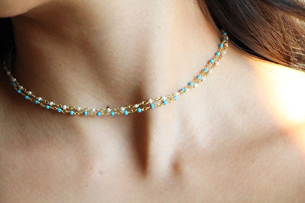 The Mini Beaded Chain Choker