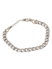 Small cuban link bracelet with zirconia
