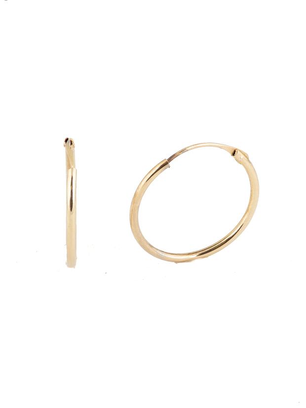 The Simple Skinny Gold Hoop -10k