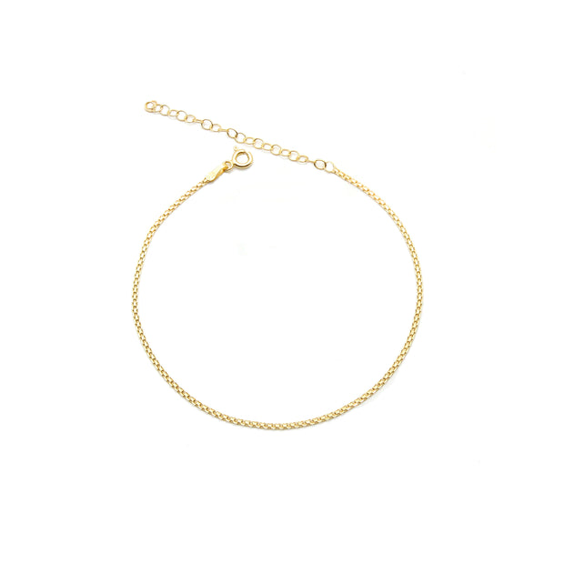 The Slim Double Link Anklet