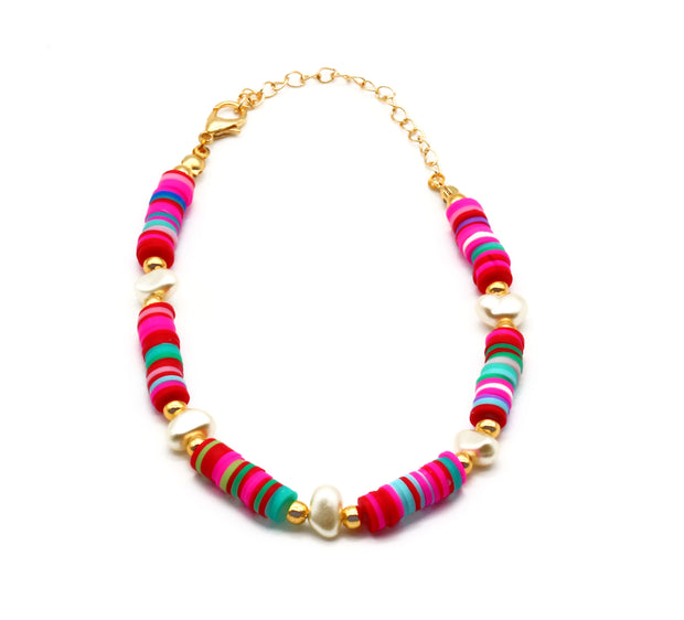 The Multicolour Beaded Anklet