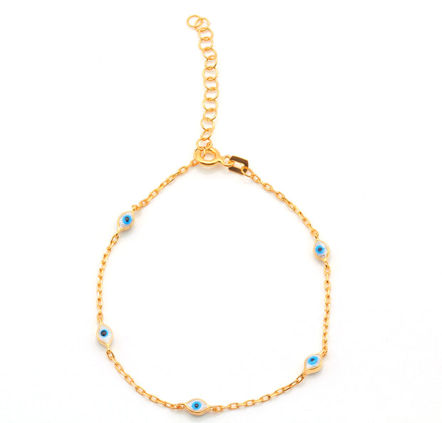 The Evil Eye Gold Plated Silver Bracelet