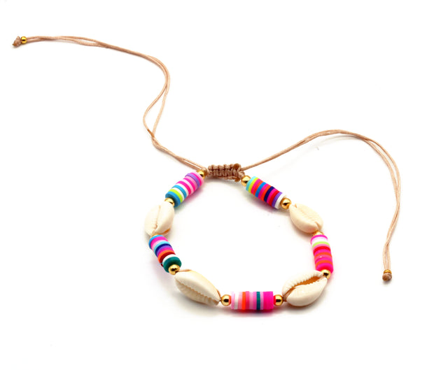 The Multicolour Seashell Anklet