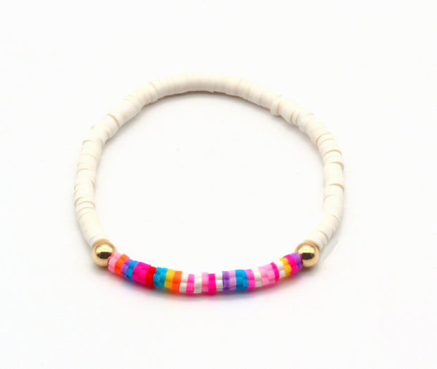 The White Rainbow Bracelet