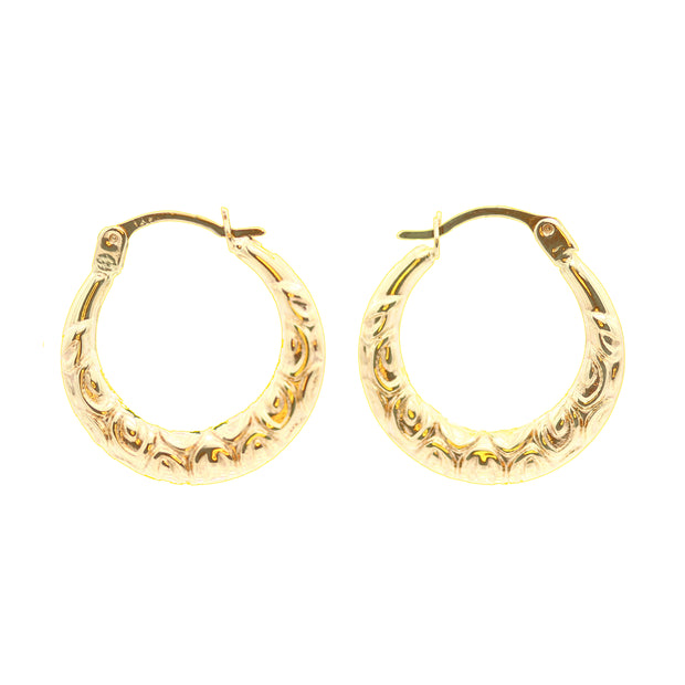 The Sunbrella Wave Hoops -14K Gold