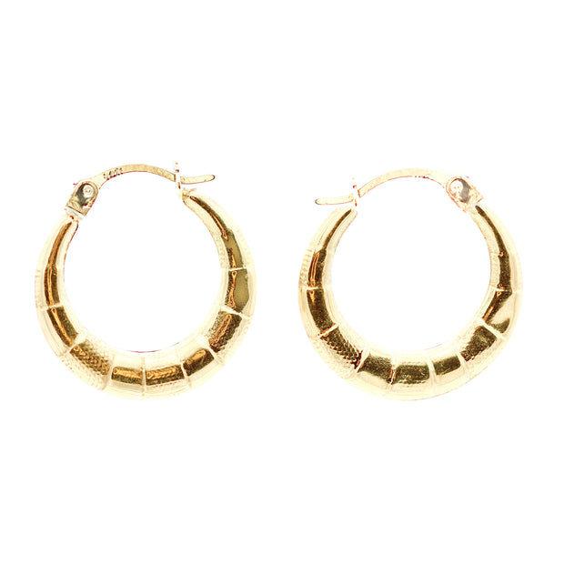 The Mini Bamboo Hoops -14k Gold