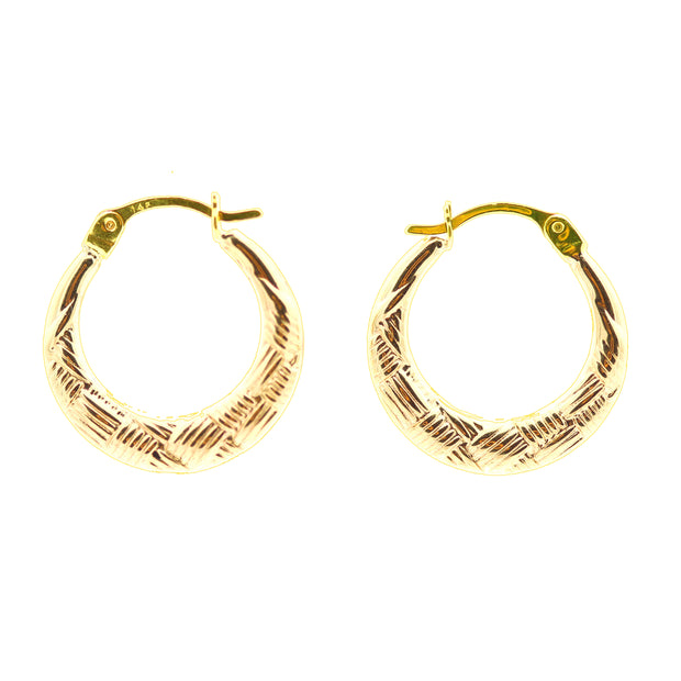 The Woven Hoops -14K Gold
