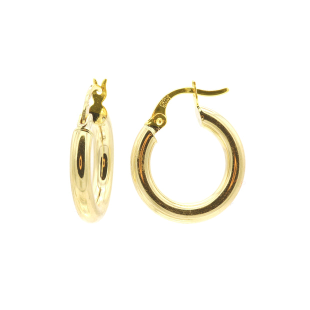 The Mini Bold Gold Hoops -14K Gold