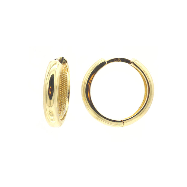 The Round Casting Hoops 16MM -14k Gold