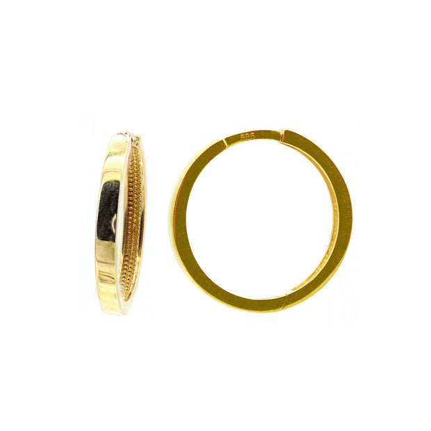 The Casting Hoops 18MM  -14k Gold