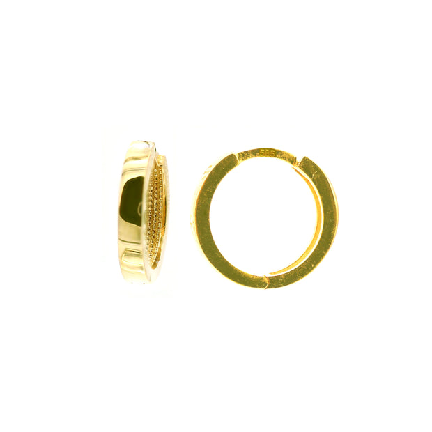 The Casting Hoops 12MM -14k Gold
