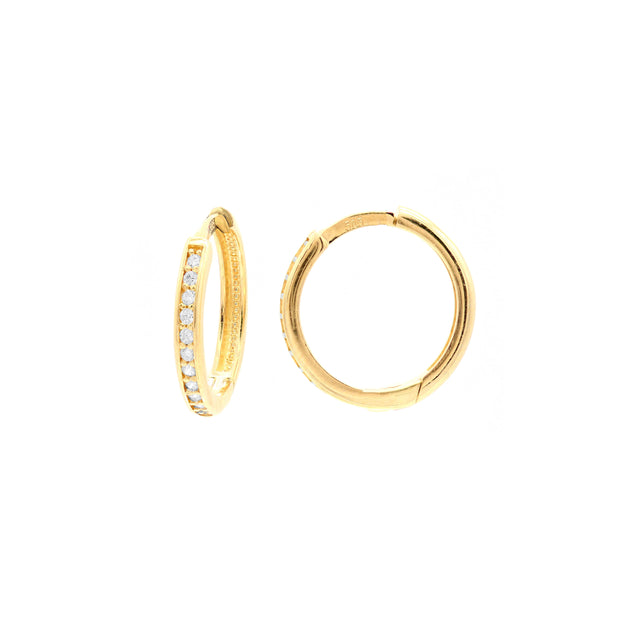 The Mini CZ Gold Hoop -14K Gold