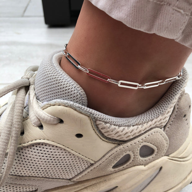 The paperclip Anklet