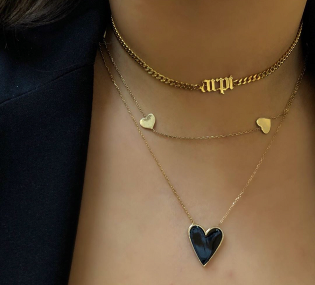 The Triple Heart Necklace