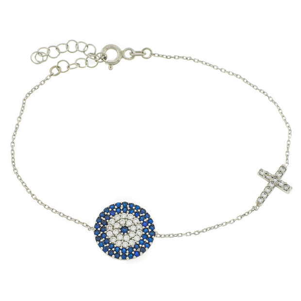The Large Evil Eye and Cross Bracelet