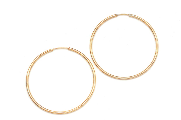 Simple Gold Filled Endless Hoops