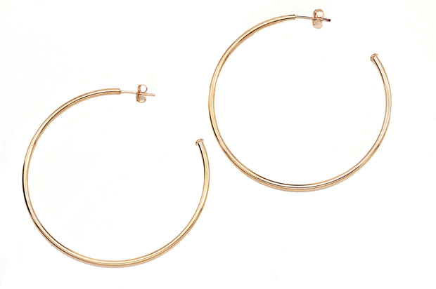 Simple Gold Filled Hoops with Butterfly