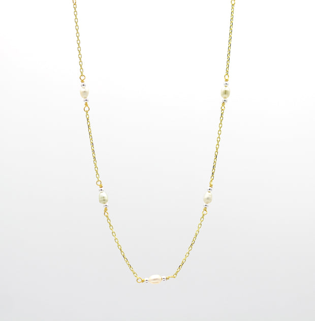 The Pearl and Chain Necklace