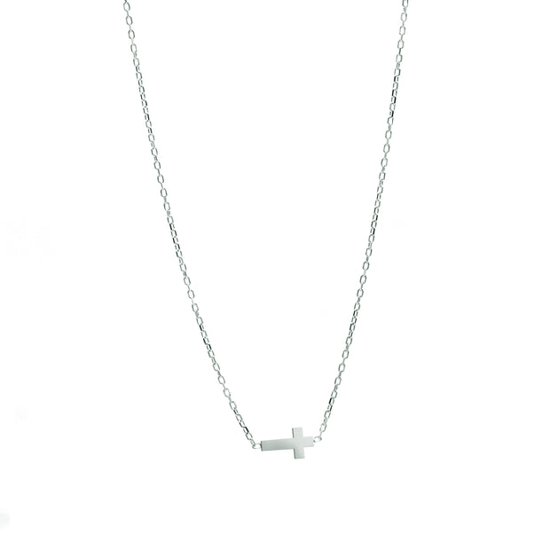 The Side Cross Necklace