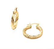 The Classic Twisted Gold Filled Hoops