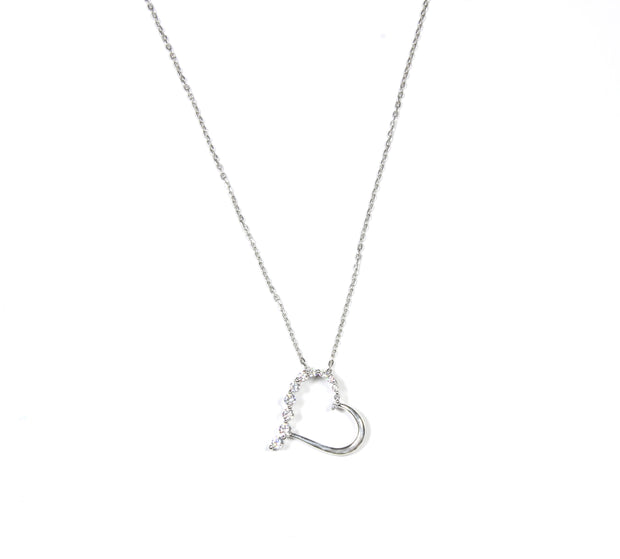 Slanted Heart Necklace