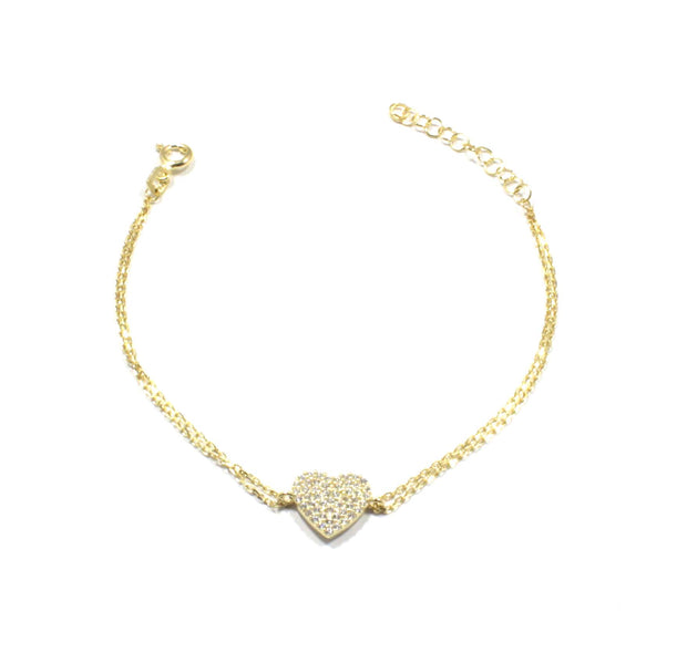 Heart Bracelet with CZ